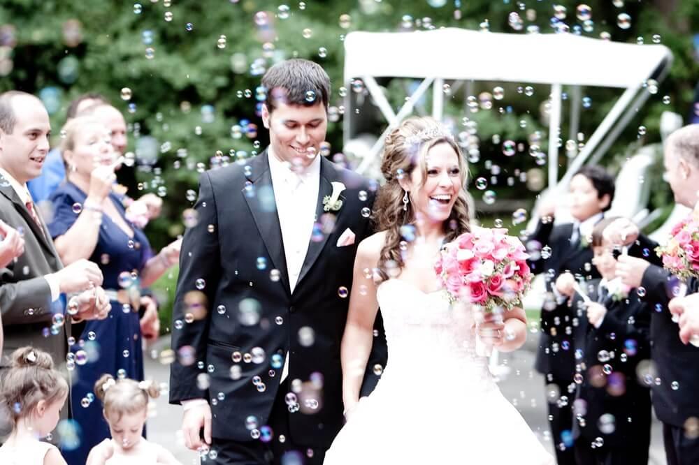 Bubbles-At-A-Wedding